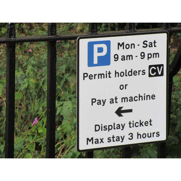 Parking Charges Sign
