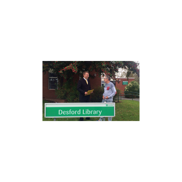 Michael Fighting for Desford Library