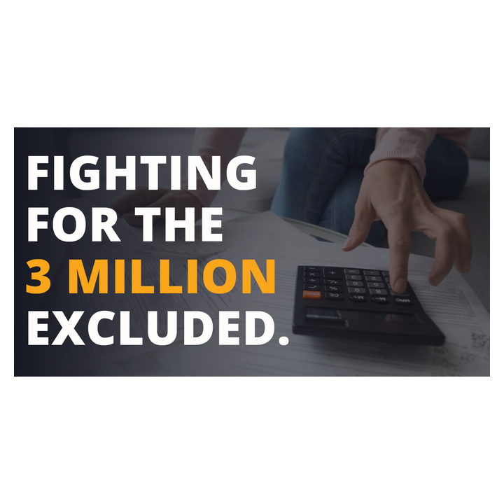 Fighting for the 3 million excluded