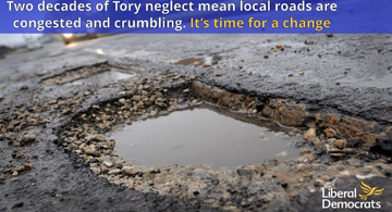 Leicestershire's roads have been run down under twenty years of Tory rule at County Hall
